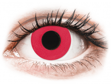 CRAZY LENS - Solid Red - power (2 daily coloured lenses)