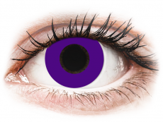 CRAZY LENS - Solid Violet - plano (2 daily coloured lenses)