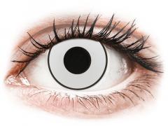 CRAZY LENS - White Black - power (2 daily coloured lenses)