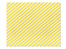 Cleaning cloth for glasses - yellow and white stripes