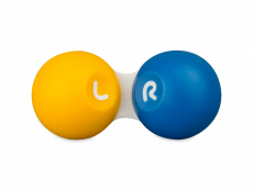 Contact lens case - yellow & blue