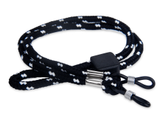 Black & white strap for glasses