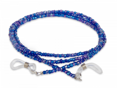 Cord for glasses in blue – beaded