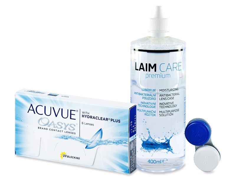 Acuvue Oasys (6lenses) +Laim-CareSolution 400ml