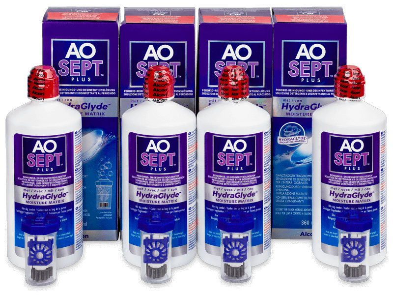 AO SEPT PLUS HydraGlyde Solution 4 x 360ml